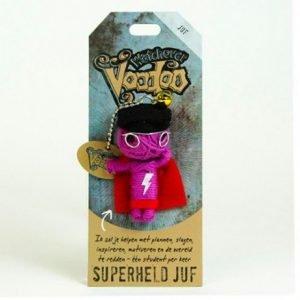 voodoo poppetje superheld juf